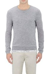 Atm Anthony Thomas Melillo Waffle Stitched Sweater Grey