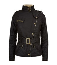 Barbour International Waxed Cotton And Shearling Jacket Female