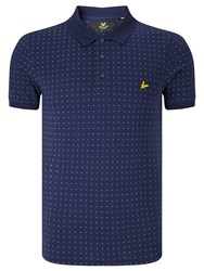 Lyle And Scott Square Dot Polo Shirt Navy