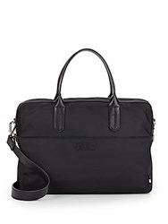 Ben Minkoff Fulton Leather Trimmed Nylon Briefcase Black