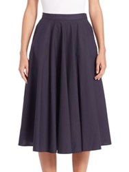 Tomas Maier Cotton Circle Skirt Dark Blue