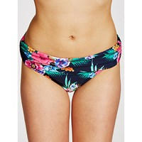 John Lewis Talaia Tropical Fold Briefs Navy Multi