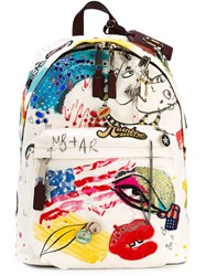 Marc Jacobs 'Collage Print' Canvas Backpack Multicolour