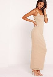 Missguided Mesh Overlay Maxi Dress Nude Gold