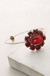 Anthropologie Meadow Crystal Cuff Red