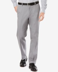 Dockers Men's Big And Tall Signature Classic Fit Khaki Pleated Stretch Pants Burma Grey