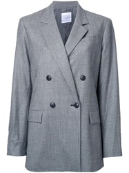 Cityshop Checked Double Breasted Coat Black