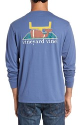 Vineyard Vines Men's 'Touchdown' Long Sleeve Crewneck Pocket T Shirt
