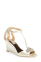 Women's Badgley Mischka 'Nedra' T Strap Wedge 4 1 4' Heel