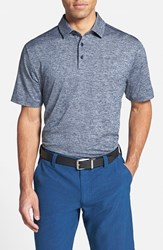 Men's Under Armour 'Playoff' Short Sleeve Polo Academy Blue Heather Graphite