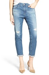 Ag Jeans Women's Ag 'The Beau' High Rise Slouchy Skinny Jeans Dunes Destroyed