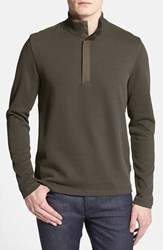 Men's Boss 'Persano' Regular Fit Quarter Zip Sweatshirt Olive