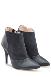Repetto Leather And Suede Ankle Boots Blue