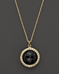 Ippolita Rock Candy Mini Black Onyx And Diamond Pendant Necklace In 18K Gold 16 Gold Black