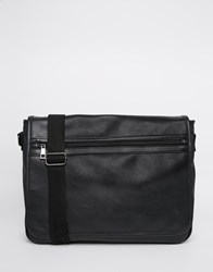 Asos Satchel With Front Zip Pocket Black