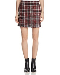 Sanctuary Siena Plaid Skirt Red Plaid