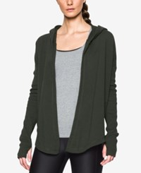 Under Armour Open Front Hooded Terry Cardigan Artillergy Green
