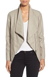 Women's Bb Dakota 'Murphy' Faux Leather Asymmetrical Jacket Toffee
