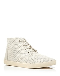 Toms Lace Up High Top Sneakers Paseo Perforated Whisper