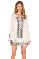 Becandbridge Boheme Long Sleeve Dress Ivory