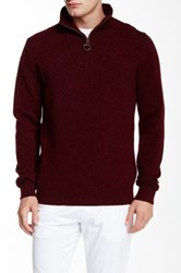 Barbour Richardson Half Zip Sweater Red