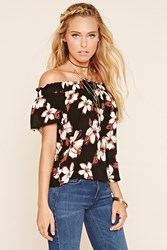 Forever 21 Off The Shoulder Chiffon Top