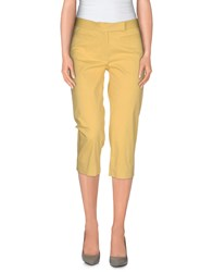 Metradamo Trousers 3 4 Length Trousers Women Yellow