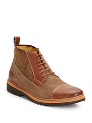 Robert Graham Bedford Cap Toe Leather Boots Brown