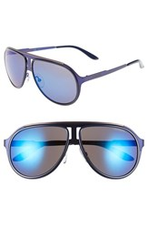 Men's Carrera Eyewear 59Mm Aviator Sunglasses Matte Blue Blue Sky Mirror