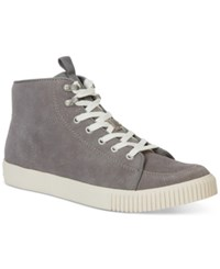Calvin Klein Jeans Jenson High Top Suede Sneakers Men's Shoes Grey