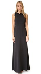 Jill Stuart Ruffle Neck Gown Black