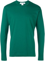 Comme Des Garcons Shirt Long Sleeve T Shirt Green