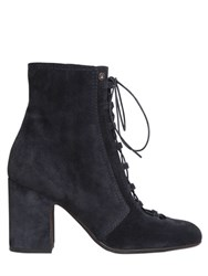 Laurence Dacade 70Mm Milly Lace Up Suede Ankle Boots