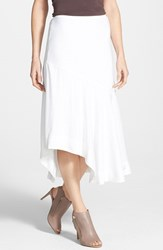 Petite Women's Nic Zoe 'The Long Engagement' Midi Skirt Paper White