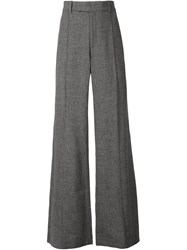 Strateas Carlucci Flared Tailored Trousers Grey