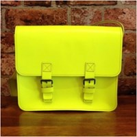 Barbara Wiggins Small Satchel Neon Yellow