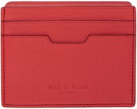 Rag And Bone Red Leather Card Holder
