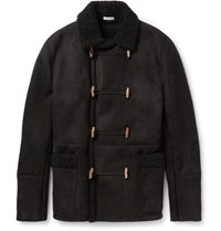 Tomas Maier Toma Nordic Hearling Duffle Coat Black