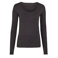 Crea Concept Long Sleeve Jersey Top Grey