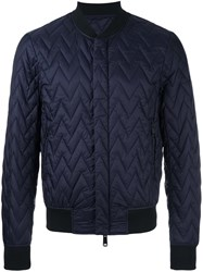 Armani Jeans Quilted Bomber Blue