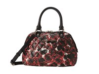 Love Moschino Floral Print Quilted Satchel Roses Satchel Handbags Red