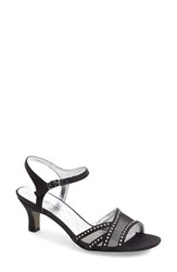 Women's David Tate 'Violet Night Out' Sandal Black Satin