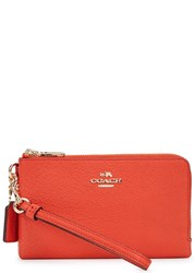 Coach Orange Grained Leather Wallet