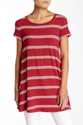 Olivia Sky Striped Swing Tee Red