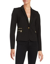 Calvin Klein One Button Ponte Blazer Black