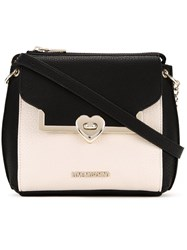 Love Moschino Small Bicolour Crossbody Bag White