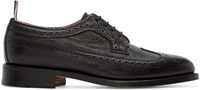 Thom Browne Black Leather Brogues