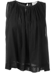 Forte Forte Pleated Tank Top Black
