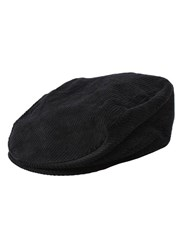 Dents Cotton Flat Cap Black
