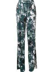 Ungaro Emanuel Floral Print Straight Trousers Green